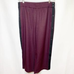 NWT James Perse Wine Cropped Track Pants Size 4